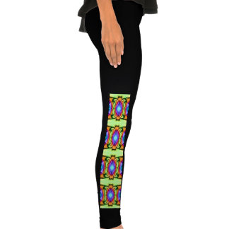 bright colorful fancy pattern legging tights