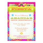 Bright & Colorful Fiesta Birthday Party Invitation