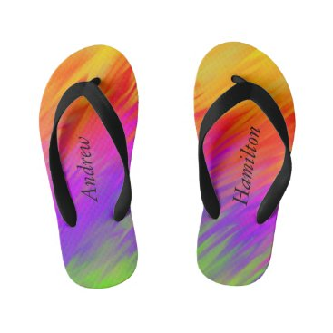 Bright Colorful Flip Flops with your Name