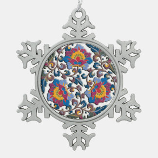 Bright colorful floral arabesque in Chinese style Ornament