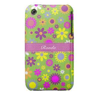 Bright Colorful Floral iPhone 3 Case