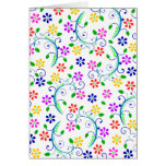 Bright, Colorful Floral Swirly Birthday Card