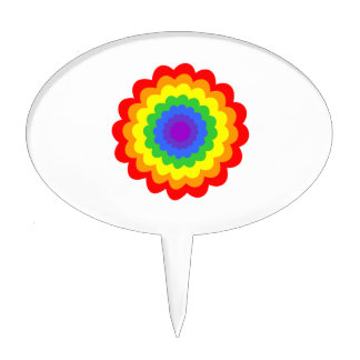 Bright colorful flower. cake toppers