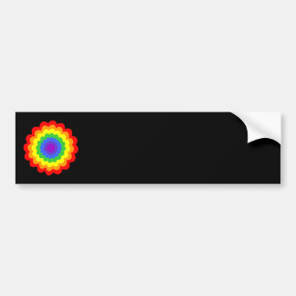 Bright colorful flower in rainbow colors. bumper sticker
