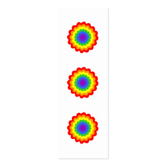 Bright colorful flower in rainbow colors. business card