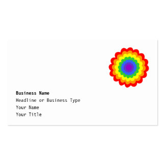 Bright colorful flower in rainbow colors. business cards