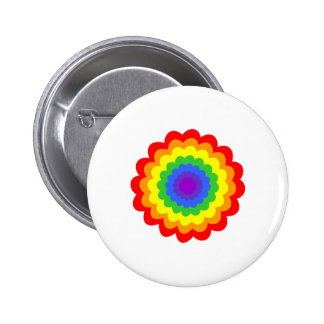 Bright colorful flower in rainbow colors. buttons