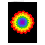 Bright colorful flower in rainbow colors. stationery note card