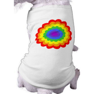 Bright colorful flower in rainbow colors. pet tee shirt