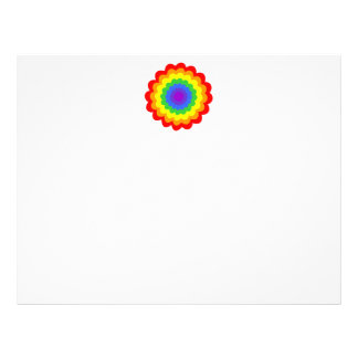 Bright colorful flower in rainbow colors. flyers