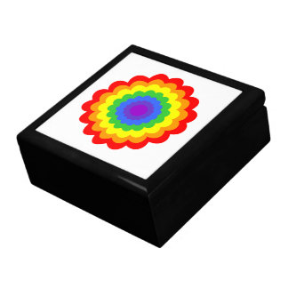 Bright colorful flower in rainbow colors. keepsake box