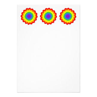 Bright colorful flower in rainbow colors. custom announcement