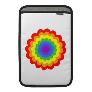 Bright colorful flower in rainbow colors. MacBook air sleeve