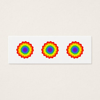 Bright colorful flower in rainbow colors. mini business card