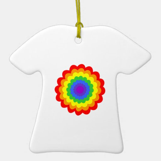 Bright colorful flower in rainbow colors. Double-Sided T-Shirt ceramic christmas ornament