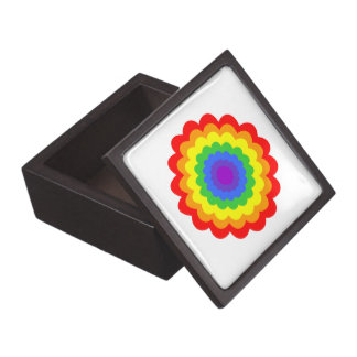 Bright colorful flower in rainbow colors. premium gift box
