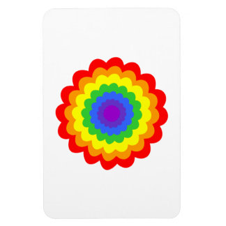 Bright colorful flower in rainbow colors. flexible magnet