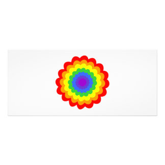 Bright colorful flower in rainbow colors. rack card template