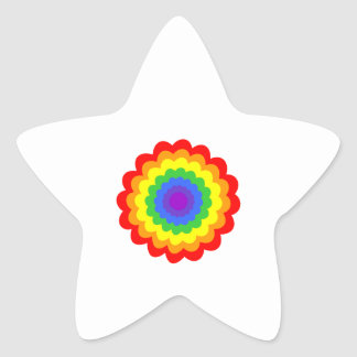 Bright colorful flower in rainbow colors. stickers
