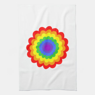 Bright colorful flower in rainbow colors. towels