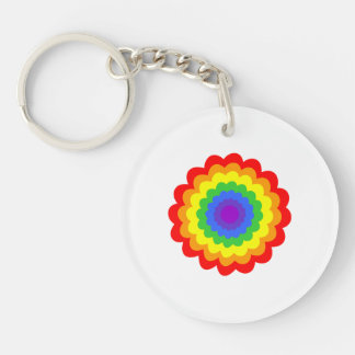 Bright colorful flower. keychain
