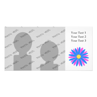 Bright Colorful Flower. Photo Card