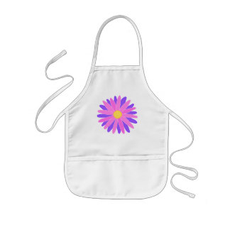 Bright Colorful Flower. Pink and Purple. Apron