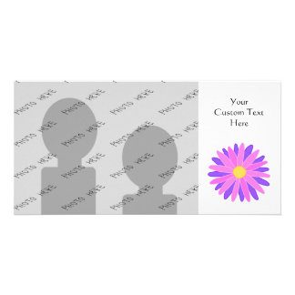 Bright Colorful Flower. Pink and Purple. Photo Greeting Card