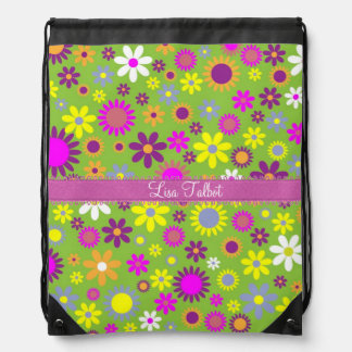 Bright Colorful Flowers Backpack