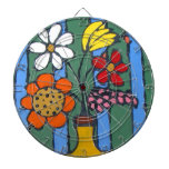 Bright Colorful Flowers Dartboards