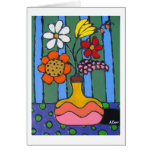 Bright Colorful Flowers Greeting Card