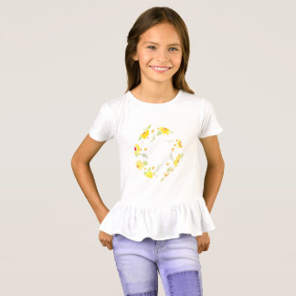 Bright Colorful Flowers in a Circle T-Shirt