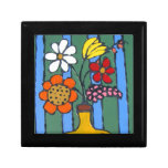 Bright Colorful Flowers Keepsake Box