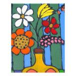 Bright Colorful Flowers Letterhead Design