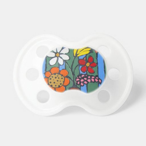 Bright Colorful Flowers Pacifier