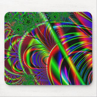 Bright Colorful Fractal Art Design. Mouse Pad