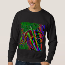 Bright Colorful Fractal Art Design. Sweatshirt