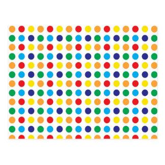 Bright Colorful Fun Polka Dots Girly Pattern Postcard