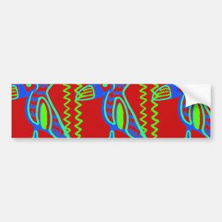 Bright Colorful Fun Toucan Tropical Bird Pattern Car Bumper Sticker