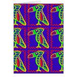 Bright Colorful Fun Toucan Tropical Bird Pattern Greeting Card