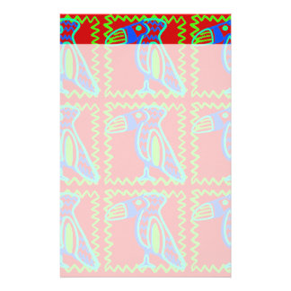 Bright Colorful Fun Toucan Tropical Bird Pattern Customized Stationery