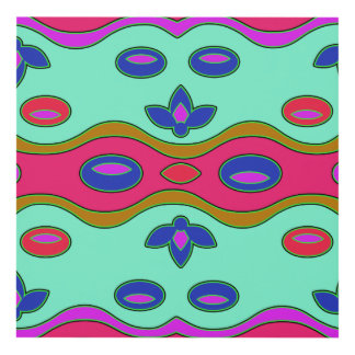 Bright Colorful Funky Abstract Art