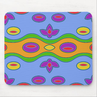 Bright Colorful Funky Abstract  Mousepad
