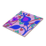 """Bright Colorful Funky Flowers Abstract Trivet<br><div class=""""desc"""">For more funky abstract home decor visit the rest of this shop!</div>"""