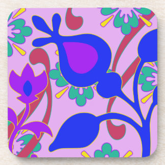 Bright Colorful Funky Flowers  Coasters