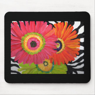 Bright & Colorful Gerbera Daisies Mouse Pad