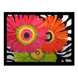 Bright & Colorful Gerbera Daisies Postcard