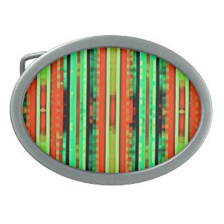 Bright Colorful Gradient Artsy Stripes Pattern Belt Buckles