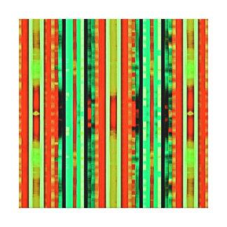 Bright Colorful Gradient Artsy Stripes Pattern Canvas Print