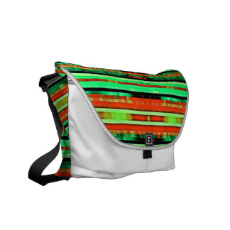 Bright Colorful Gradient Artsy Stripes Pattern Messenger Bags